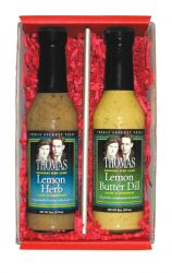 Lemon Butter Dill and Lemon Herb Sauce& Marinade 2-Item Gift Box Set